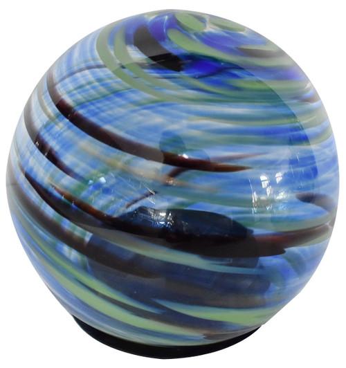 Solar Glass Orb Blue Splendor - 5 inch