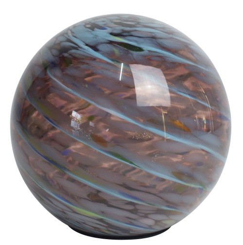 Solar Glass Orb Amethyst - 7 inch