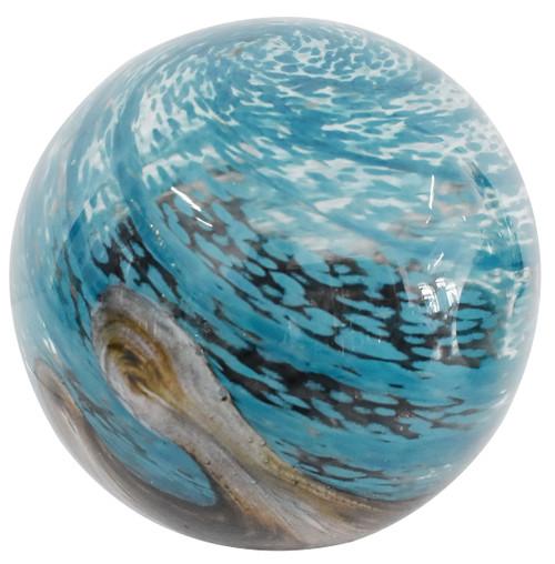 Solar Glass Orb Maldives - 7 inch