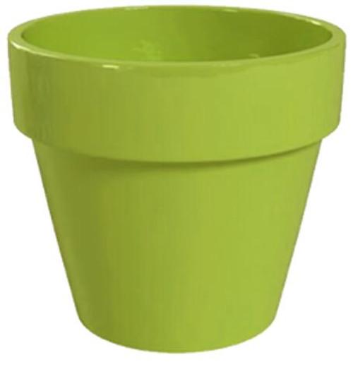 Glazed Ceramic Electric Pot Green Apple - 4 inch