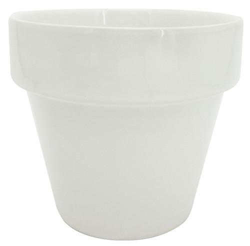 Glazed Ceramic Electric Pot White - 4 inch