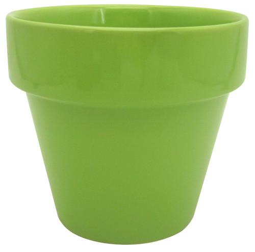 Glazed Ceramic Electric Pot Green Apple - 5.5 inch