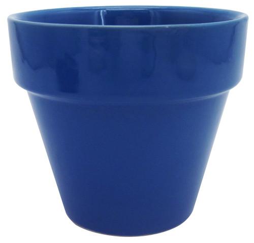 Glazed Ceramic Electric Pot Twilight Blue - 5.5 inch
