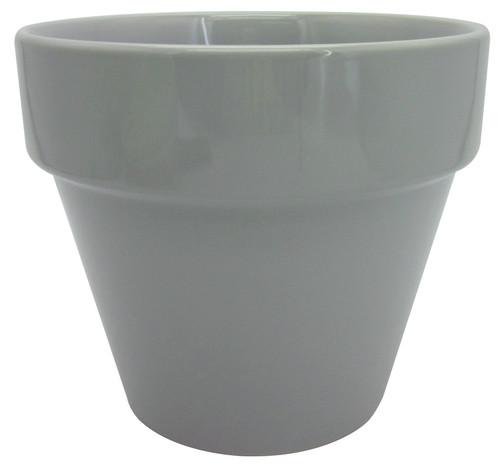 Glazed Ceramic Electric Pot Grey - 5.5 inch