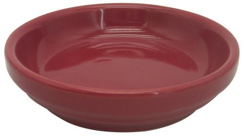 Glazed Ceramic Electric Saucer Apple Red - 5 inch