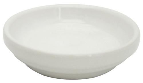 Glazed Ceramic Electric Saucer White - 5 inch