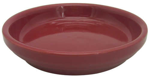 Glazed Ceramic Electric Saucer Apple Red - 6.5 inch