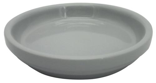 Glazed Ceramic Electric Saucer Grey - 6.5 inch