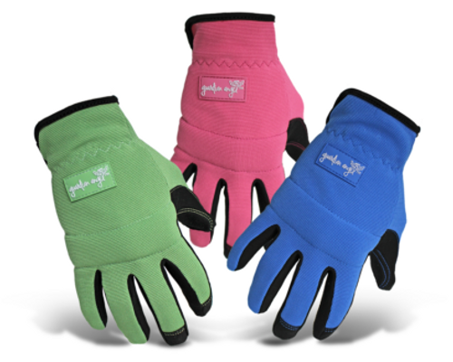 Boss® Ladies' Touchscreen Mechanic Synthetic Leather Palm Green/Pink/Blue Gloves - Medium