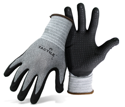 Boss® Tactile™ Dotted & Dipped Nitrile Palm & Fingers - Medium