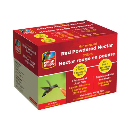 Classic Brands More Birds Premium Powdered Hummingbird Nectar Red, 6-Pack - 32 Oz