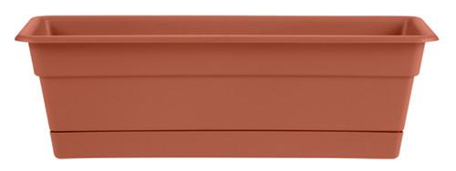 Bloem Dura Window Box Terra Cotta Plastic - 30 inch