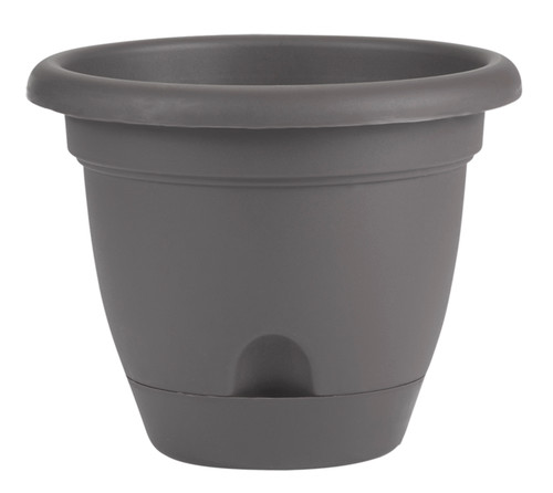 Bloem Lucca Planter Charcoal Plastic - 10 inch