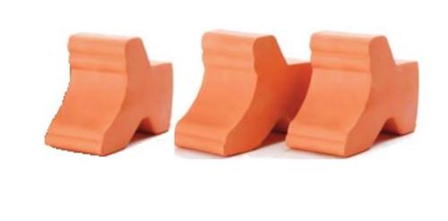 Glazed Ceramic Terra Cotta Pot Feet 3Pk - 1.5 inch
