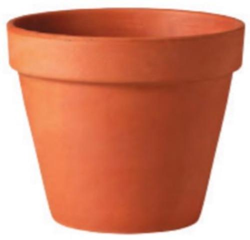 Glazed Ceramic Terra Cotta Standard Pot - 6 inch