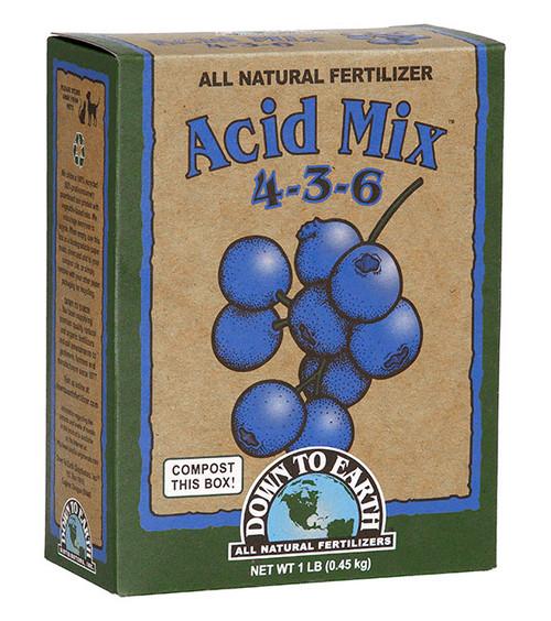 Down To Earth Acid Mix 4-3-6 Fertilizer - 1 lb