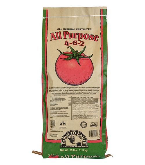 Down To Earth All Purpose 4-6-2 Fertilizer - 25 lb