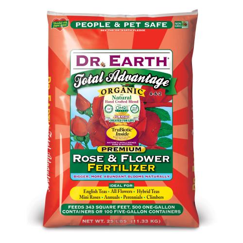 Dr. Earth Total Advantage Rose and Flower Fertilizer - 25 Lb