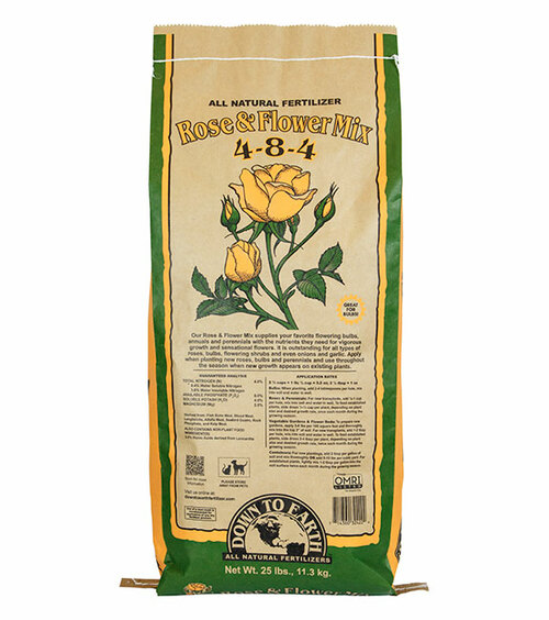 Down To Earth Rose & Flower Mix 4-8-4 Fertilizer - 25 lb