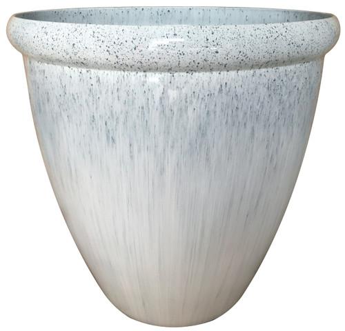 Glazed Ceramic Egg Planter Gulfstream - 13 inch