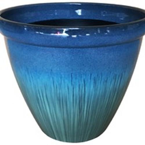 Glazed Ceramic Egg Planter Eclipse - 13 inch