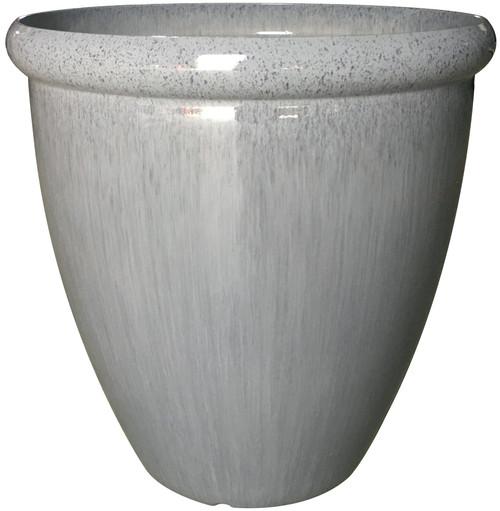Glazed Ceramic Egg Planter Quarry - 18 inch
