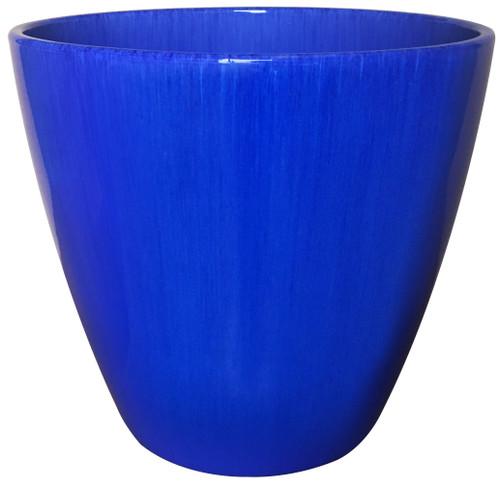 Glazed Ceramic Kurv Planter Royal Blue - 13 inch