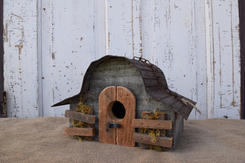 Birdhouse Natural Weathered Wood