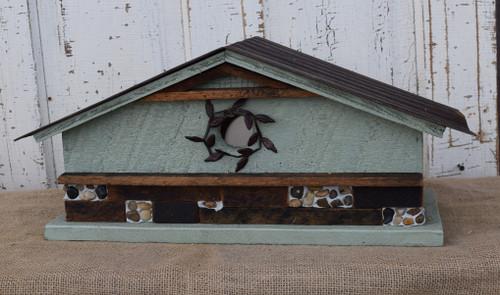 Birdhouse with Vine & Stone