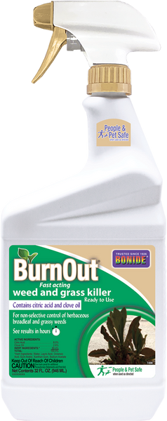 BurnOut® Fast-Acting Weed & Grass Killer Ready-To-Use - 32 oz