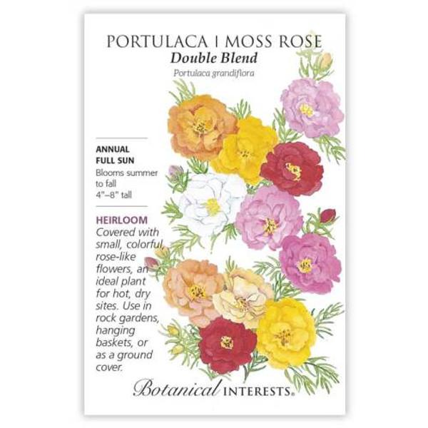 Double Blend Portulaca (Moss Rose) Seeds Heirloom