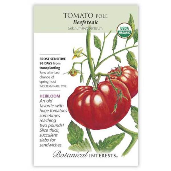 Beefsteak Pole Tomato Seeds Organic Heirloom
