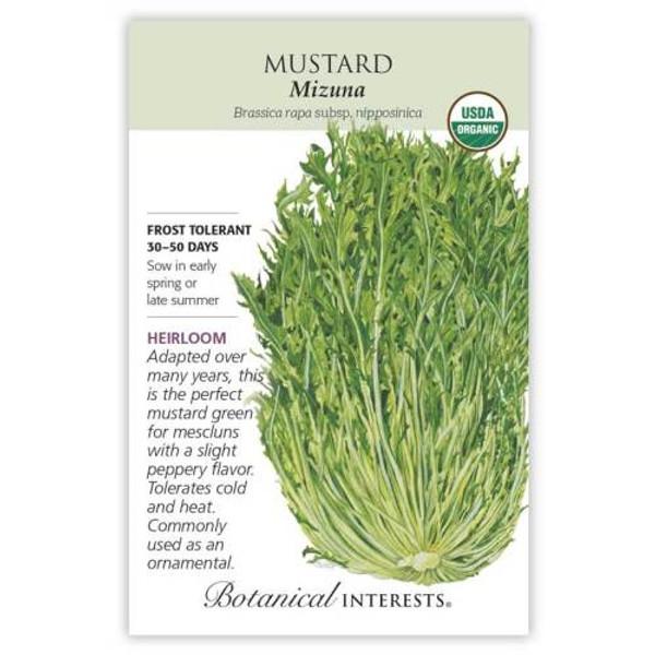 Mizuna Mustard Seeds Organic Heirloom