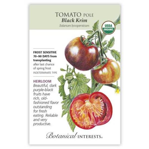 Black Krim Pole Tomato Seeds Organic Heirloom