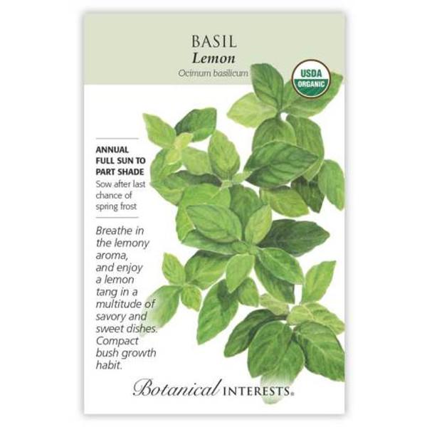 Lemon Basil Seeds Organic Organic
