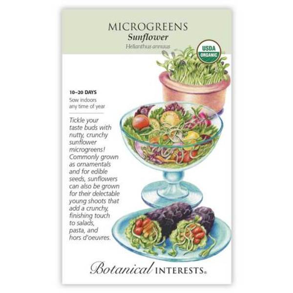 Sunflower Microgreens Seeds Organic
