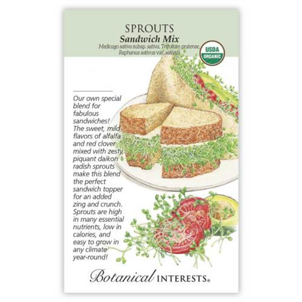 Sandwich Mix Sprouts Seeds Organic