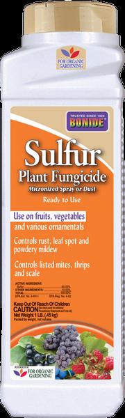 Sulfur Plant Fungicide Dust - 1 lb