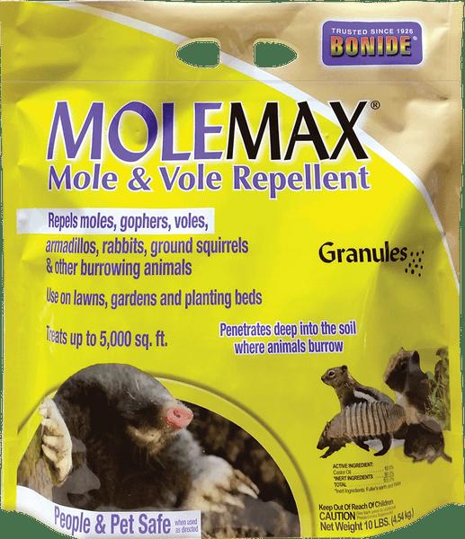 MoleMax® Mole & Vole Repellent Granules - 10 lbs