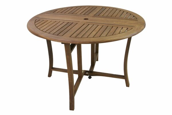 "Eucalyptus 48"" Round Folding Dining Table"