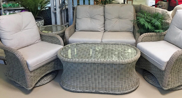 Dover Resin Wicker 5 piece Seating Group