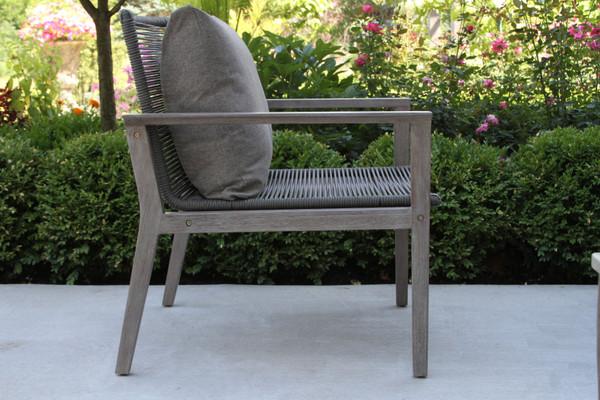 Eucalyptus Grey Wash & Rope Lounger