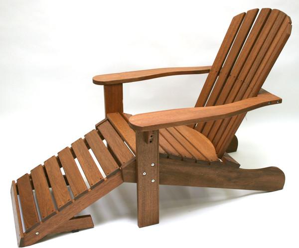 Eucalyptus Adirondack Chair with Ottoman