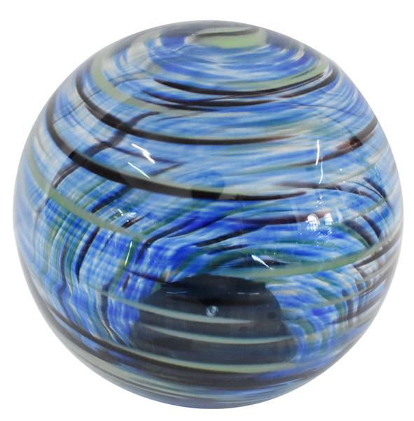 Solar Glass Orb Blue Splendor - 7 inch