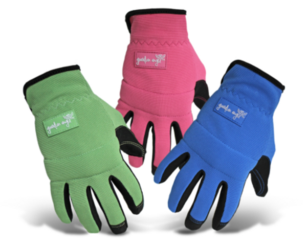 Boss® Ladies' Touchscreen Mechanic Synthetic Leather Palm Green/Pink/Blue Gloves - Small