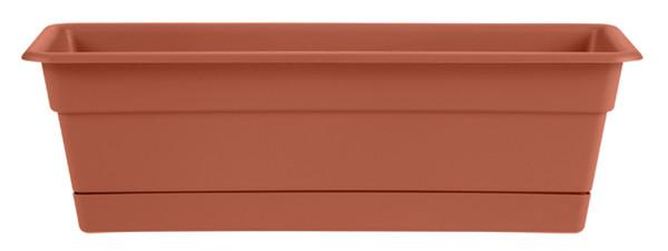 Bloem Dura Window Box Terra Cotta Plastic - 24 inch