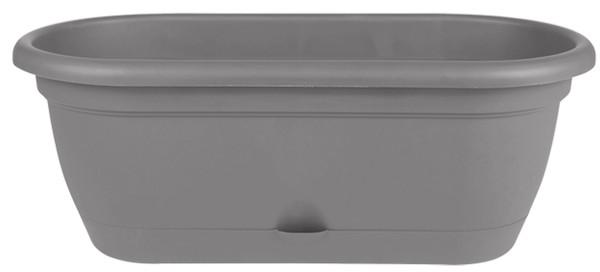 Bloem Lucca Window Box Charcoal Plastic - 18 inch