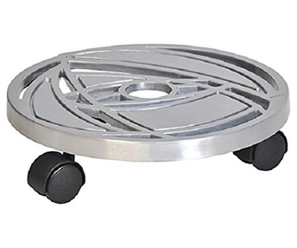 Aluminum Round Plant Caddy - 11.6 dia
