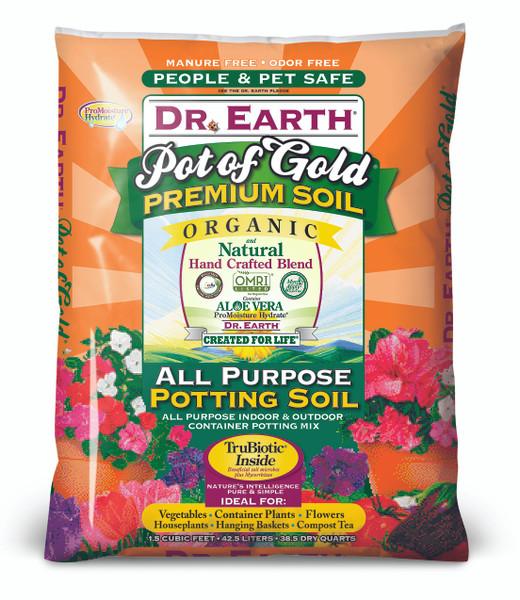 Dr. Earth Pot Of Gold Potting Soil - 1.5 cf