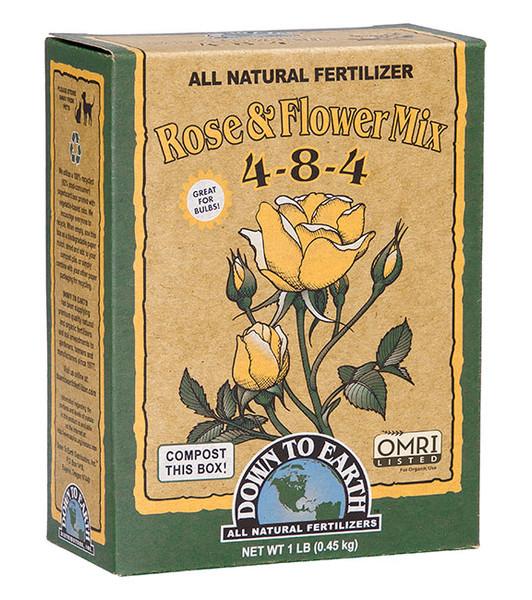 Down To Earth Rose & Flower Mix 4-8-4 Fertilizer - 1 lb